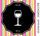 wineglass symbol icon | Shutterstock .eps vector #1060241708