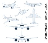 vector set of cartoon white... | Shutterstock .eps vector #1060242356