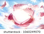 pink satin decoration  smooth... | Shutterstock .eps vector #1060249070