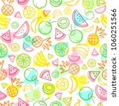 colorful sketch mixed tropical... | Shutterstock .eps vector #1060251566