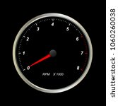 tachometer. round scales on...   Shutterstock .eps vector #1060260038