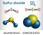 sulfur dioxide  sulphur dioxide ... | Shutterstock .eps vector #1060261433