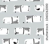 cute dogs seamless pattern.... | Shutterstock .eps vector #1060262000