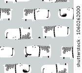 cute dogs seamless pattern.... | Shutterstock .eps vector #1060262000