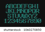 lcd letters and numbers for a... | Shutterstock .eps vector #1060270850