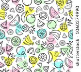 colorful sketch mixed tropical... | Shutterstock .eps vector #1060274990