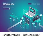 high technology concept.... | Shutterstock .eps vector #1060281800