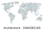 continent composition map... | Shutterstock .eps vector #1060282160