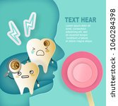 tooth with decay problem on the ...   Shutterstock .eps vector #1060284398
