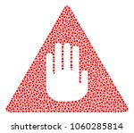 caution mosaic of small circles ... | Shutterstock .eps vector #1060285814