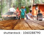table background and grill time ... | Shutterstock . vector #1060288790