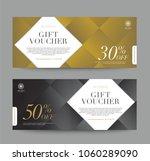 gift voucher template promotion ... | Shutterstock .eps vector #1060289090