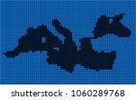 dotted pixel mediterranean sea... | Shutterstock . vector #1060289768
