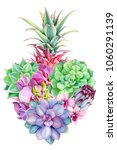 tropical plants flowers orchid  ... | Shutterstock . vector #1060291139