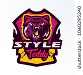 colorful logo  badge  sticker ... | Shutterstock .eps vector #1060295240