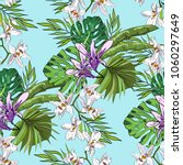 tropical hand drawn exotic... | Shutterstock .eps vector #1060297649