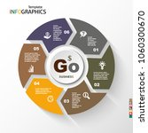 infographic  geometric graph ... | Shutterstock .eps vector #1060300670