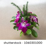 orchid flower in jar on the... | Shutterstock . vector #1060301000