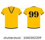 t shirt yellow and black soccer ... | Shutterstock .eps vector #1060302209