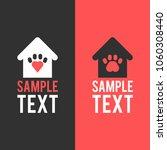 logo template. home for pet.... | Shutterstock .eps vector #1060308440