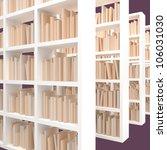 library bookshelf with books   Shutterstock . vector #106031030