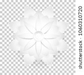 white flower paper cut style... | Shutterstock .eps vector #1060310720