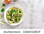 vegetable fruit salad with... | Shutterstock . vector #1060310819