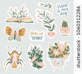 set of vector cute doodles... | Shutterstock .eps vector #1060312286