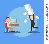businessman with documents... | Shutterstock .eps vector #1060313246