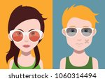man and woman avatars with... | Shutterstock .eps vector #1060314494