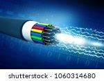 optical fiber cable. 3d... | Shutterstock . vector #1060314680