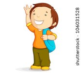 vector illustration of kid with ... | Shutterstock .eps vector #106031528