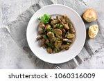 beef stroganoff with mushrooms... | Shutterstock . vector #1060316009