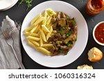 close up of  beef stroganoff...   Shutterstock . vector #1060316324