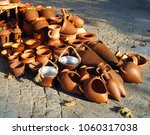 ceramics. pottery for selling. | Shutterstock . vector #1060317038