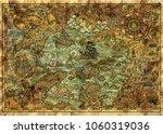 antique map of fantasy lands... | Shutterstock . vector #1060319036