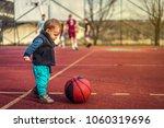 cute little baby boy young... | Shutterstock . vector #1060319696