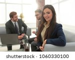 portrait of smiling working... | Shutterstock . vector #1060330100