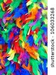 Closeup Of Bright Multi Colore...