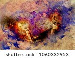 girl with shamanic feather mask ... | Shutterstock . vector #1060332953
