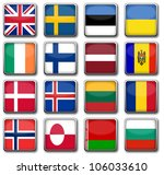 national flags | Shutterstock . vector #106033610