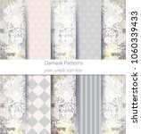 damask pattern set collection... | Shutterstock .eps vector #1060339433