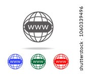 internet web icon. elements of...