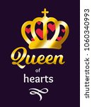 queen of hearts  vector... | Shutterstock .eps vector #1060340993