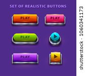 colorful game buttons. vector...