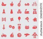 toys  icon set.vector. | Shutterstock .eps vector #1060343570