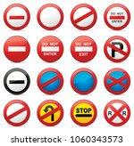 road signs vector illustration | Shutterstock .eps vector #1060343573
