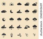 weather icons set.vector | Shutterstock .eps vector #1060343639