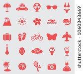 summer  icons set.vector | Shutterstock .eps vector #1060343669