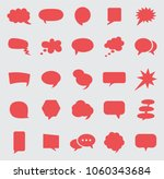 speech bubble icon set. | Shutterstock .eps vector #1060343684